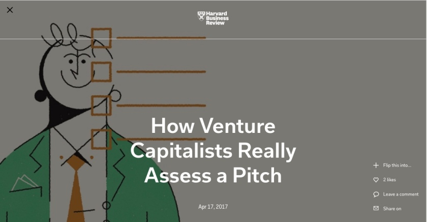 how vcs assess a pitch